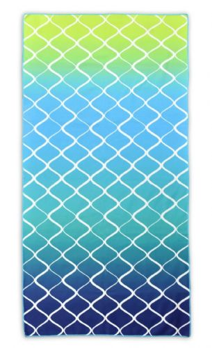 Microfibre Lightweight Beach Towel For Holiday Travel Camping Yoga Gym 70x140cm Lattice Blue